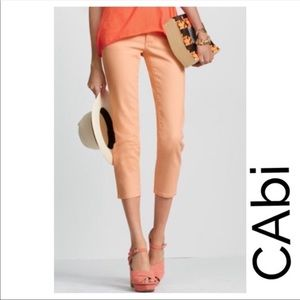 CAbi Bree Creamsicle Cropped Peachy Jeans 6